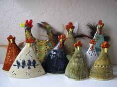 Blue Chicken, Chicken Art, Ceramic Chicken, Chicken Pattern, Pottery Animals, Hand Built Pottery, Pottery Classes, Galo, Pottery Sculpture