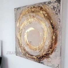 Acrylic painting - JEAN - a design .- Acrylmalerei – JEAN – ein Designerstück von JeanSand… Acrylic Painting – JEAN SANDERS Structure – a unique product by JeanSanders on DaWanda - Diy Canvas, Wall Canvas, Canvas Art, Wall Art, Art Feuille D'or, Diy Art, Gold Leaf Art, Easy Paintings, Acrylic Paintings