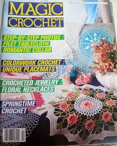 Magic Crochet Magazine February 1990 Number 64 by ZigZagZella