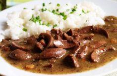 Dušené ledvinky s rýží Czech Recipes, Ethnic Recipes, Stew, Mashed Potatoes, Lunches, Recipes, Shredded Potatoes