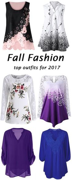 fall fashion for 2017:Plus Size Blouses