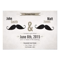 about Gay & Lesbian Wedding Invitations on Pinterest Gay wedding ...