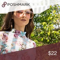 Sale✨Pink Lens Oversized Aviator Sunglasses ✨THIRD AND LAST RESTOCK✨These sleek and simple oversized aviator sunglasses features a gold metal frame with pink oversized lenses. Adjustable nose pads. clear tinted lens.  * Aviator style * Oversized fit * Approximate measurements:  * Full width 5.75 in * Individual lens size: 2.5in W, 2.25 in H * Side bar 5.5 in. * Price Firm. Style Link Miami Accessories Sunglasses