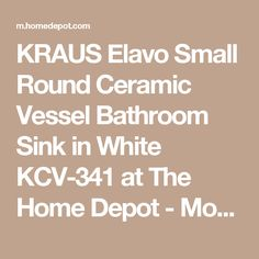 Add an elegant touch to your bathroom by installing this Elavo Small Round Ceramic Vessel Bathroom Sink in White from KRAUS. Vessel Faucets, Sink In, Modern Bathroom, White Ceramics, Cleaning Wipes, Funky Bathroom, Modern Bathrooms, Bathroom Modern