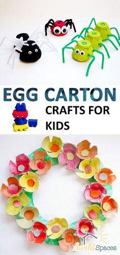 Egg Carton Crafts for Kids| Egg Carton Crafts, Egg Carton Crafts, Kid Crafts, Crafts for Kids, Fun Crafts for Kids, Egg Carton DIYs, DIY Crafts. #EggCartonCrafts #CraftsforKids #KidStuff