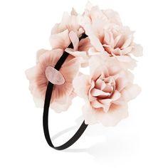 Flower Crown Headband ($6.45) ❤ liked on Polyvore featuring accessories, hair accessories, hats, flower crown, jewelry & accessories, accessories and jewelry, head wrap headband, headband hair accessories, flower crown headband and hair band accessories