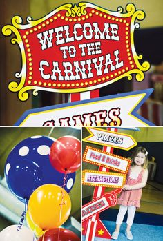 Image detail for -Carnival of Dreams {Circus Party Ideas} // Hostess with the Mostess® Circus Carnival Party, Circus Theme Party, Carnival Birthday Parties, Carnival Themes, Circus Birthday, First Birthday Parties, Birthday Party Themes, First Birthdays, Birthday Ideas