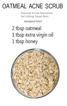 Oatmeal scrub and mask {Oatmeal will cleanse the skin of oil and exfoliate the pores to clear clogged pores, help heal acne and brighten the skin}