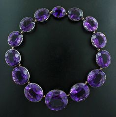 Amethyst, 18K Rose Gold, Blackened Silver Necklace by James de Givenchy #Taffin #Taffinjewelry #JamesdeGivenchy #Necklace
