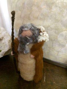 Pastore in lana cardata di CreazioniMonica su Etsy