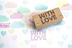 WITH LOVE stippeltjes stempel
