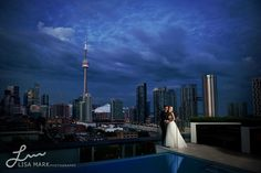 Stephanie & Charles wrap up their Thompson Toronto wedding with a beautiful portrait on our rooftop.
