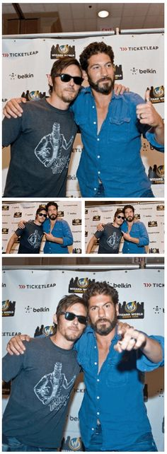 Norman Reedus & Jon Bernthal, The Walking Dead http://pinterest.com/yankeelisa/the-walking-dead-2/