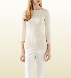 white ribbed stretch viscose top