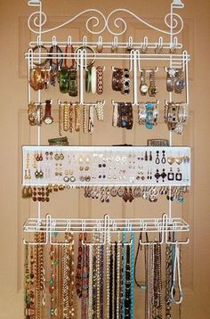 3c17df6db7bd Over the Door Space-Saving Complete Jewelry Organizer ♥ Organizadores