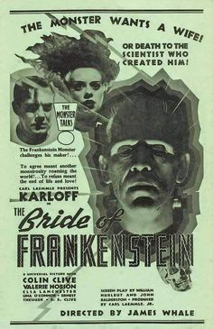 What a great poster ! The Bride of Frankenstein
