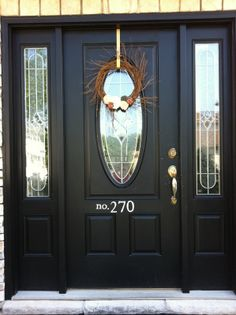 Love the house numbers painted on the door idea.