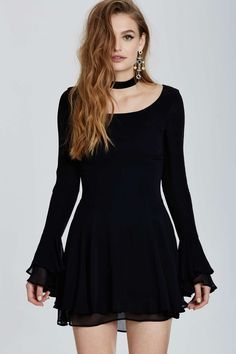 Vintage Dolce & Gabbana Fano Bell Sleeve Dress