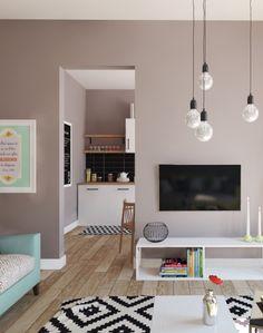 wohnung im skandinavischen stil wohnzimmer mit sitzmbel in trkis wandbilder passend zu - Stil Wohnung