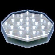 """6¼"""" Illuminating 25 Clear LED Centerpiece Light Base"""