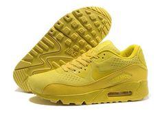 29f10c748e0f2 Nike Womens Air Max 90 Engineered Mesh Yellow Running