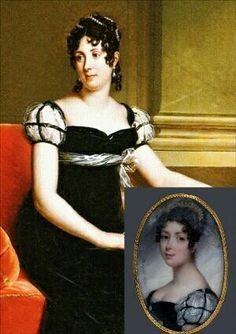 (Same dress, different #portrait.) Desiree Clary in Crown Princess of Sweden in national dress