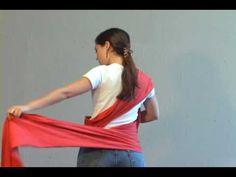 Moby Wrap Instructions - YouTube ( how to use and wear the moby wrap with baby!)