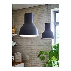 IKEA - HEKTAR, Suspension, gris foncé, , Ce luminaire diffuse une agréable lumière au dessus de la table de salle à manger ou du bar au moment des repas.
