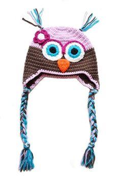 Hekla rosa og brun ugle lue til barn Crochet Hats, Beanie, Fashion, Knitting Hats, Moda, La Mode, Fasion, Beanies, Fashion Models