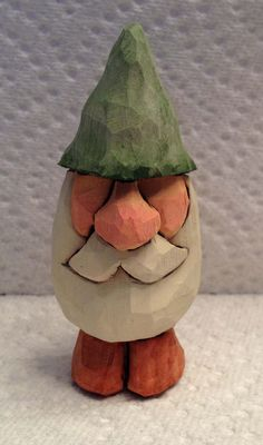Hand Carved Handmade Miniature Gnome Wood by RWKWoodcarving