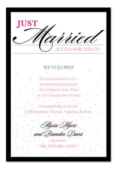 Just Married Confetti - Wedding Invitations by Invitation Consultants. (Item # IC-RLP-596 )