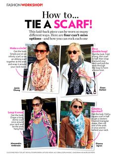 Easy scarf tying tips