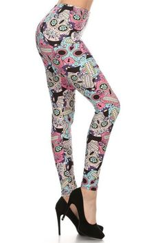 c820bc6d1a579 69 Best Sugar Skull Outfit Ideas images in 2019 | Skull leggings ...