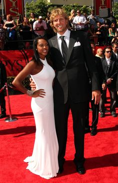 Dirk Nowitzki & Wife Jessica Olsson.