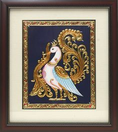 Tanjore Paintings - Peacock wall mount