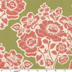 lunch box fabrics- Fresh Cut Flowers in Moss