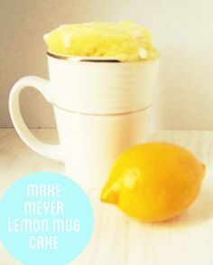 Single serving Meyer Lemon Mug Cake recipe! For times when you want a piece of cake but your hips can't afford to have an entire cake in the house, lol