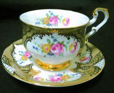 PARAGON-GILT-GOLD-HIGH-HANDLE-ROSE-TEA-CUP-AND-SAUCER