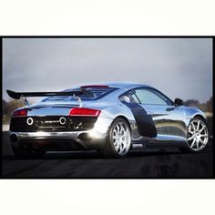 Loving the spoiler on this stunning chrome Audi R8!
