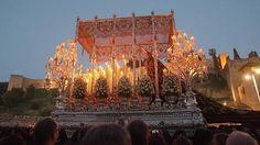 La Virgen de la Soledad del Sepulcro.Semana Santa de Málaga (ES) 2015
