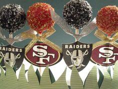 49er/raider cake pops