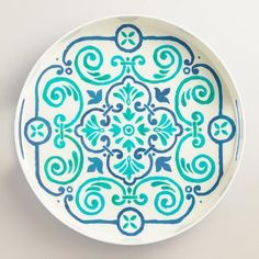 One of my favorite discoveries at WorldMarket.com: Turquoise Riviera Tile Print Drink Tray