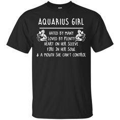 Zodiac Aquarius Girl T shirts Mind Hated By Many Loved By Plenty Hoodies Sweatshirts