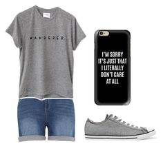 """""""Grey"""" by fangirlmendes on Polyvore featuring Melissa McCarthy Seven7, Converse and Casetify"""