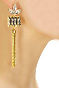 Gold plated misty earrings by Prerto. Shop at: http://www.perniaspopupshop.com/designers/prerto #prerto #earrings #accessory #perniaspopupshop