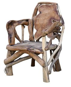 Title: Decorative Design  Def: Focuses on beauty and individuality  Why: This chair is an example of decorative design. This chair gives off support but also a feeling of individual expression. The owner may like the outdoors and wanted to bring the feeling of nature in which would explain the all wood structure.