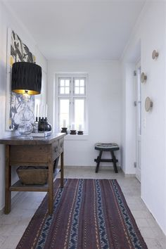 lovely light hallway with a mix of old a new