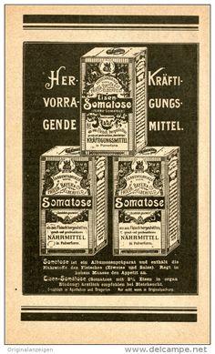 Original-Werbung/Inserat/ Anzeige 1900: SOMATOSE NÄHRMITTEL ca. 90 X 180 mm