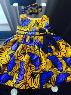 Handmade African Ankara Baby Dress with Matching by Shakarababies, £27.00