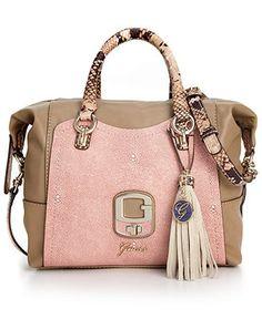 GUESS Handbag, Azadeh Small Box Satchel - Handbags & Accessories - Macy's. $128
